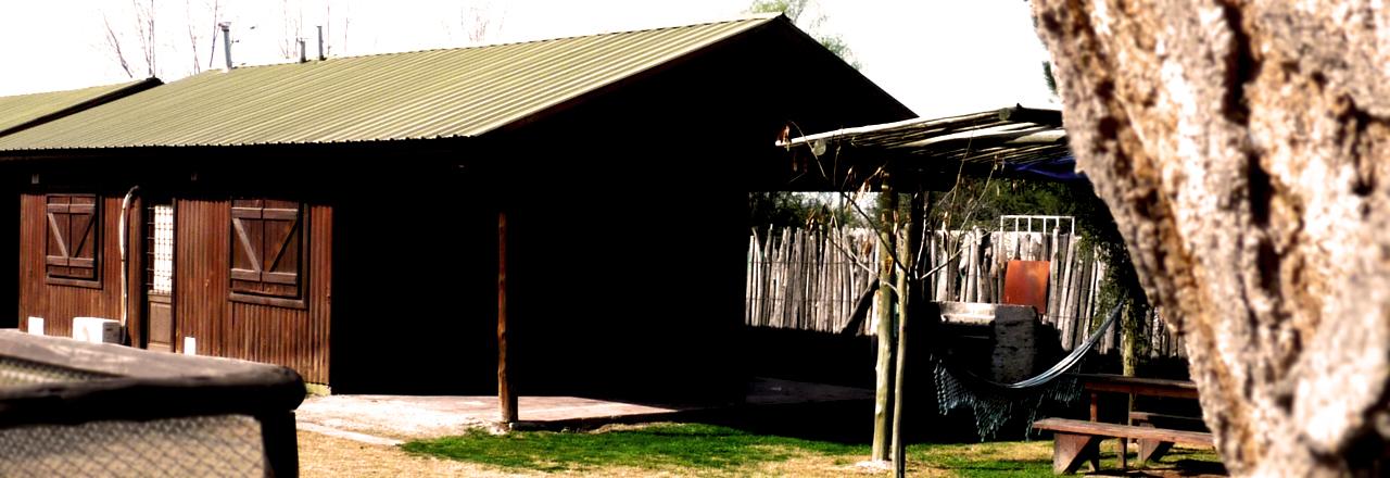 Vista de una de las cabañas